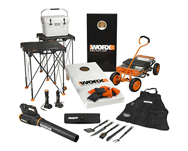 WORX ULTIMATE TAILGATE PRIZE PACKAGE
