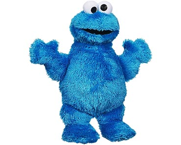 Plush cookie monster