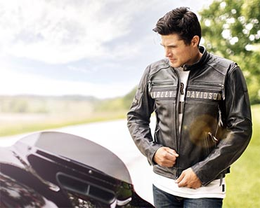 Harley Davidson Passing Link Triple Vent Leather Jacket