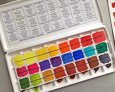 Da Vinci Watercolor Palette