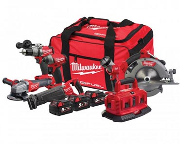 Milwaukee 6 Piece Power Pack