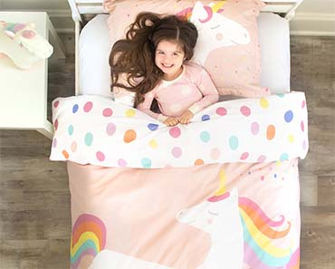 organic unicorn duvet cover